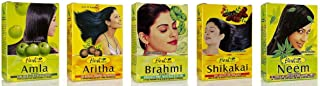 Hesh herbal powder pack of 5 Varieties for Hair- Amla, Aritha, Brahmi, Shikakai and Neem Leaf