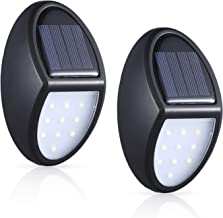 MOSUO Zonnelampen voor buiten, set van 2 10 LED zonne-wandlamp met sensor, IP65 waterdichte lamp kinderkamer auto aan/uit ...