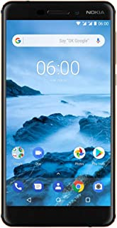 "Nokia 6.1 (2018) - Android 9.0 Pie - 32 GB - Dual SIM Unlocked Smartphone (AT&T/T-Mobile/MetroPCS/Cricket/H2O) - 5.5"" Screen - Black - U.S. Warranty"