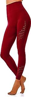leggings rot INSTINNCT Damen Yoga Lange Leggings Slim Fit Fitnesshose Sporthosen