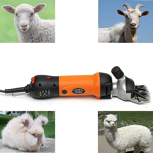 Yscisso 320W Professional Electric Laine Cisailles Portable 6 Vitesses pour Moutons, chèvres, bovins et Autres Animaux de la Ferme Rasage pour Animaux de Compagnie