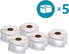 DYMO LabelWriter Multipurpose Labels, 1 x 2 1/8, White, 500 Labels/Roll, Sold as 5 Rolls, 2500 Labels Total
