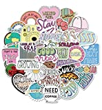 Cute VSCO Slang Words Stickers | 50-Pack Aesthetic Good Vibes Girls Vinyl Stickers | Water Bottle Scrapbooking Laptops Notebook Car Stickers Decals