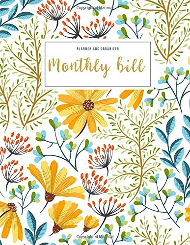 Monthly Bill Planner and Organizer: monthly bill checklist | 3 Year Calendar 2020-2022 Budget Planning, Financial Planning Journal (Bill Tracker, ... gift for mom (Financial Planner Budget Book)