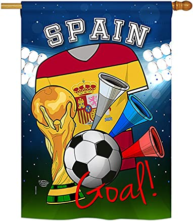 Ornament Collection HS192113-P3 World Cup Spain Soccer Interests Sports Impressions Decorative Vertical 28