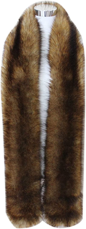 Women's Men's Extra Large Faux depot Fox Winter Raccoon Warm Colla Bargain Fur
