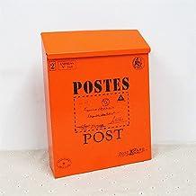 Huis brievenbus Tuin Mail Box Afsluitbare Postdoos Met Sleutelslot Brievenbus Outdoor Yard Deur Veranda Opknoping Decorati...
