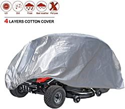 kayme Riding Lawn Mower Cover Waterproof, 4 Layers Heavy Duty Ride On Tractor Cover, Outdoor Sun Snow Uv Rain Dust Protection, Universal Fit Up to 54 Inch Decks