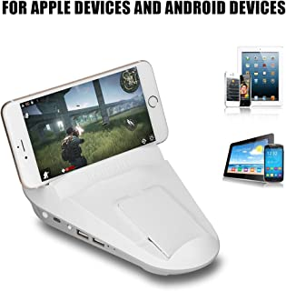 fosa Bluetooth Mobile Gamepad Can Connect with Keyboard and Mouse for Chicken Dinner/Rules of Survival/CF, Hand Joy Converter Game Holder Base Power Injector for Android/iOS Devices