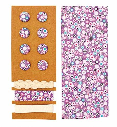 GLOREX Kit Textile Polyester Violet 24,5 x 17,6 x 0,5 cm