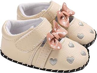 DEBAIJIA Bébé Filles Chaussures Princess, Chaussures Premier Pas pour Enfants Tout-Petits 1-3 Ans, Chaussons Filles Semell...