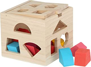 Wooden educational toys shape matching blocks toys for children