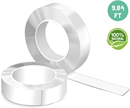 Dinkung Super Sticky Double-Sided Nano Magic Transparent Tape, Washable Reusable & Removable Gel Adhesive Tape is Multipurpose for Home Wall Room Office& Fixing Carpet