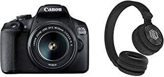Canon EOS 1500D 24.1 Digital SLR Camera (Black) with EF S18-55 is II Lens, 16GB Card and Carry Case with Nu Republic Starboy X-Bass Wireless Headphone with mic (Black)