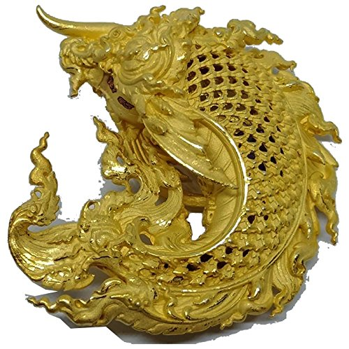 Lucky Fish Power Jewelry Amulet Plaa Ar Non Jinda Manee Luck and wealth for Life by Lp Sor Kaantikoh