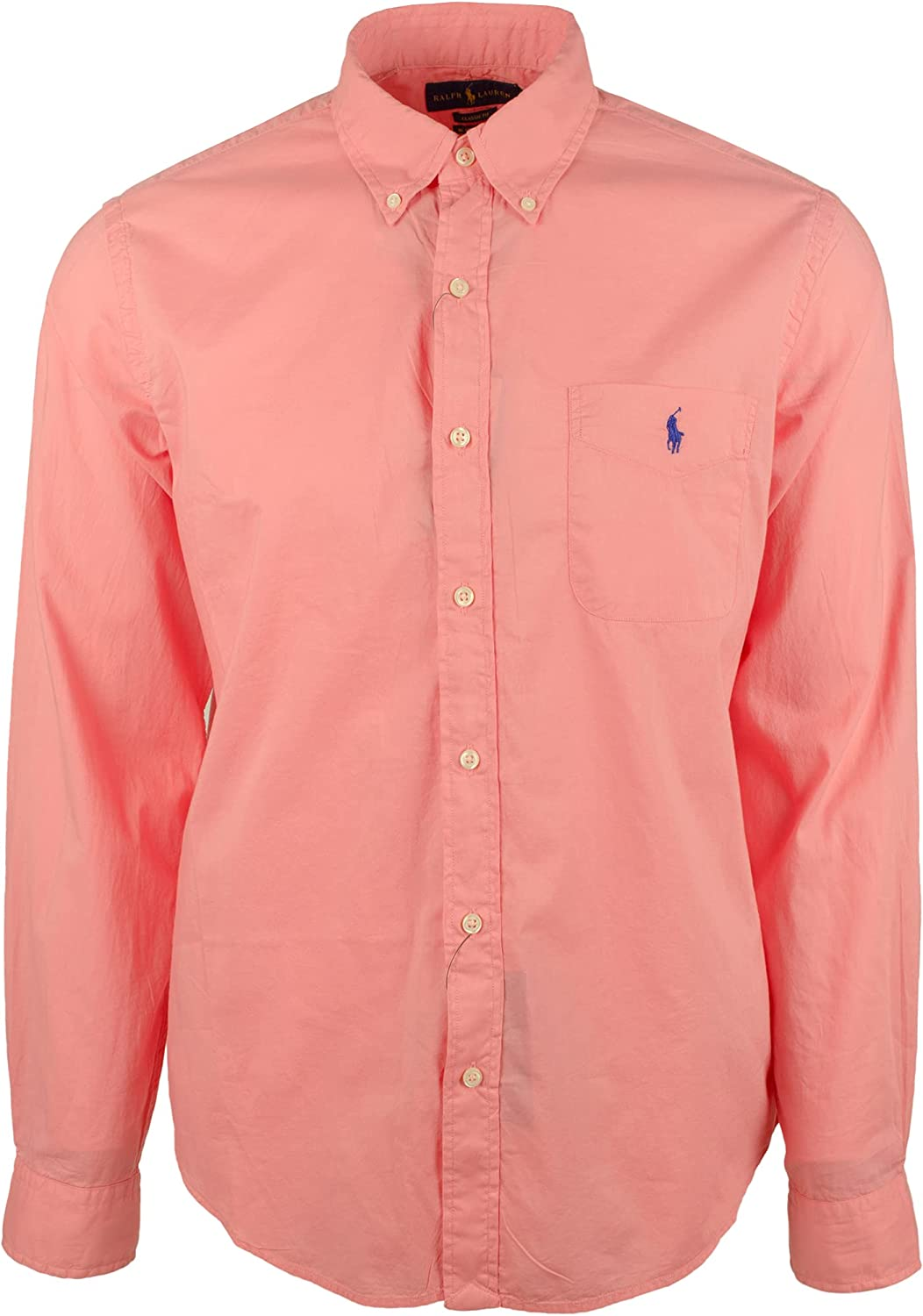 Men's Classic Untucked Fit Long Sleeves Shirt