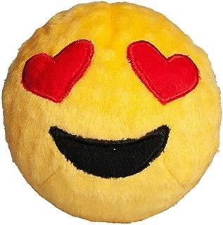 Fab Dog Heart Eyes Emoji Faball Dog Toy