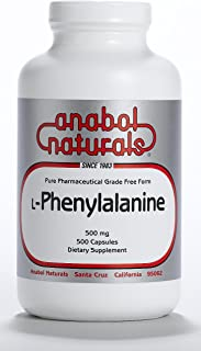 200 Grams L-Phenylalanine Anabol Naturals Free Form Pure Crystalline Powder