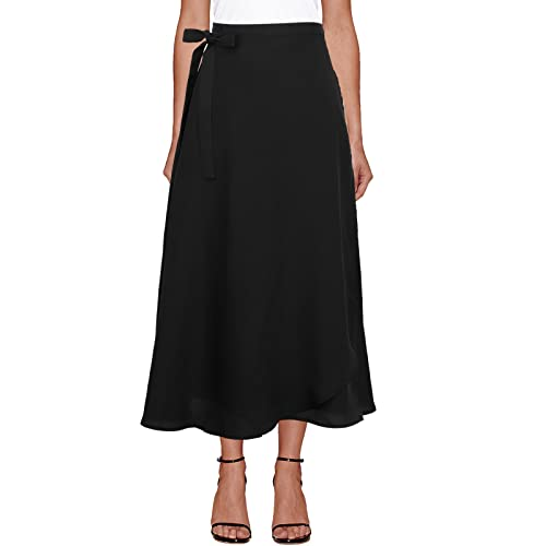 aecab690d4 iLover Womens High Waist Summer Beach Wrap Cover up Maxi Skirt