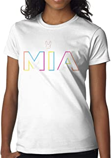 Women's Selected Short Sleeve Shirt Print with Bad Bunny Mia S White