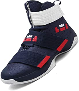 Unisex Fashion High Top Running Sneakers Velcro Basketball Shoes