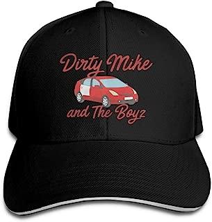 Dirty Mike and The Boys Hip Hop Baseball Cap Golf Trucker Baseball Cap Adjustable Peaked Sandwich Hat Black Unisex Casquette