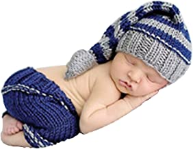 SUNBABY Newborn Baby Handmade Crochet Knitting Costume Infant Photography Prop Hats Pants Suit
