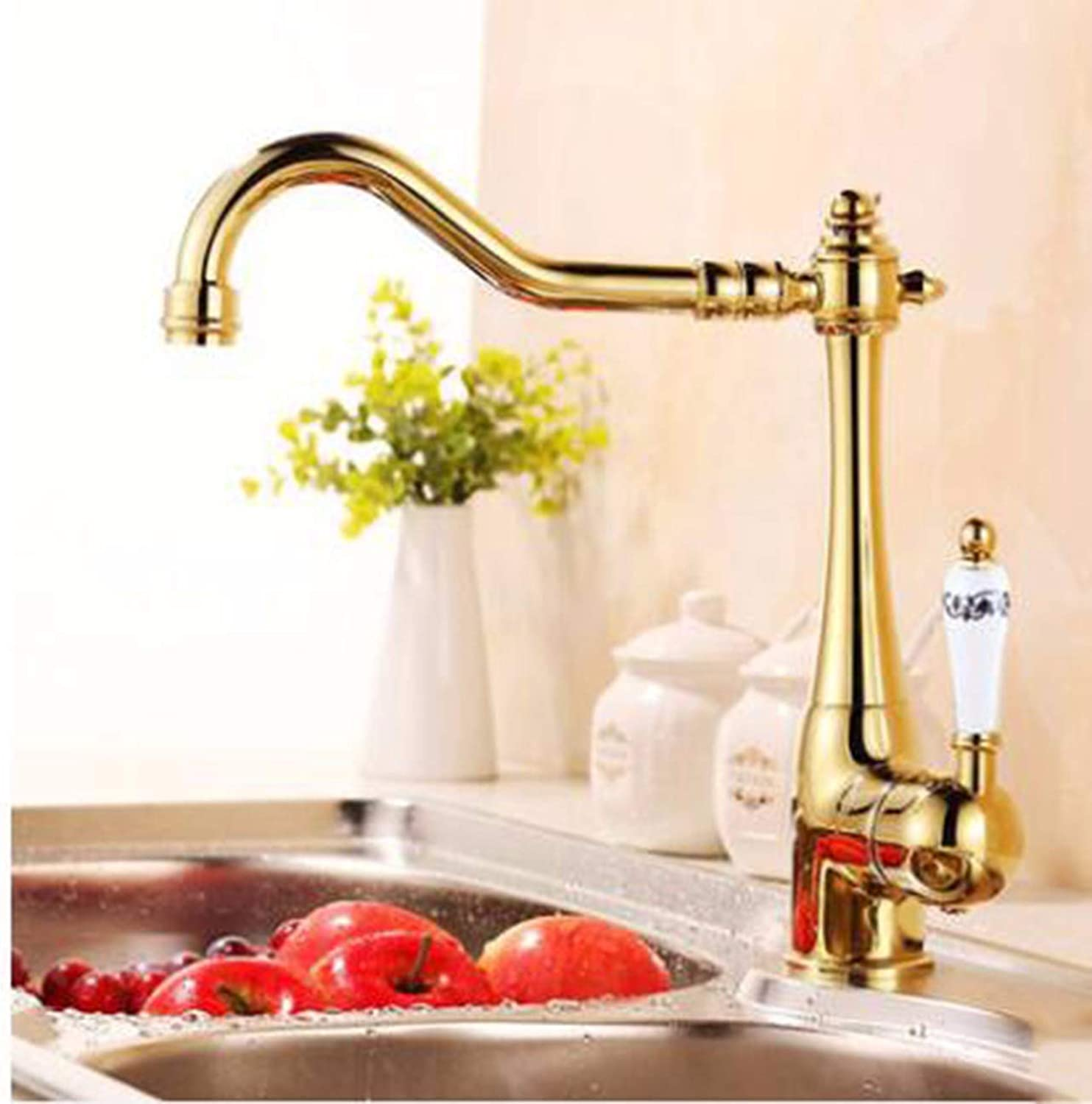 XPYFaucet Faucet Tap Taps Copper kitchen antique sink hot and cold mop pool mop pool, B