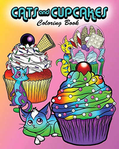 Cats and Cupcakes: Coloring Book
