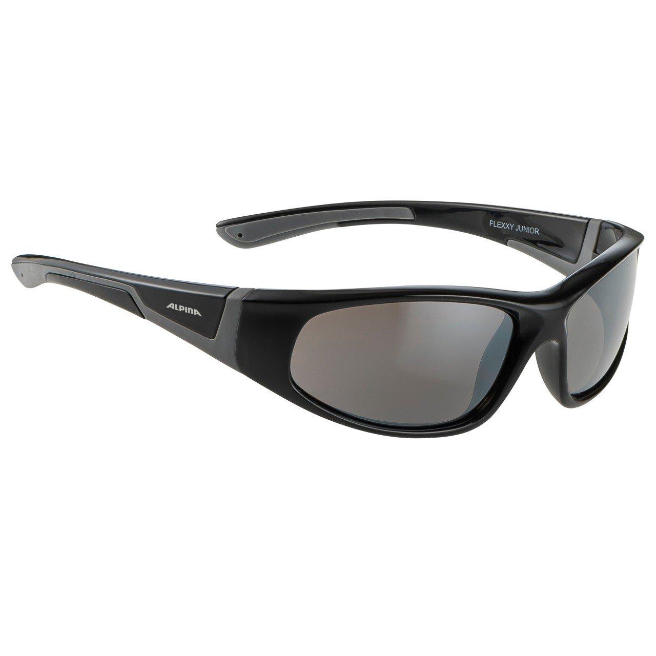ALPINA Unisex - Kinder, FLEXXY JUNIOR Sportbrille, black-grey gloss, One Size