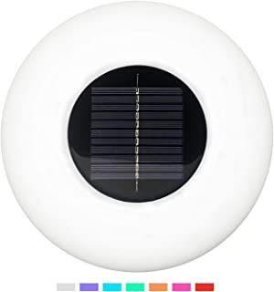 Solar Floating Swimming Pool Light with Remote Control Outdoor Color Changing Waterproof LED Lights Globe Lamps for Garden Pool Patio Party Decoration(Flying Saucer)