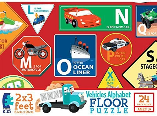 distribución global Ceaco Vehicles-24 pieces Floor Puzzle by Ceaco Ceaco Ceaco  apresurado a ver