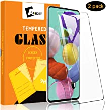 [2-Pack] AVIDET for Samsung Galaxy A51 Screen Protector, HD Clear [Anti-Scratch][Bubble Free][Anti-Fingerprints] 9H Hardness 0.3mm Ultra Slim Tempered Glass Compatible for Samsung Galaxy A51