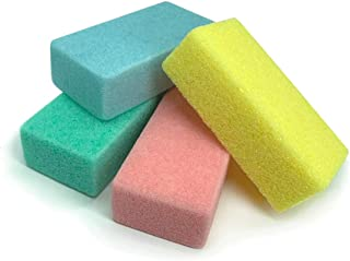 Maryton Pumice Sponge for Feet, Ultimate Pedicure Stone Callus Remover & Foot Scrubber Bulk Pack of 4(Assorted Colors)