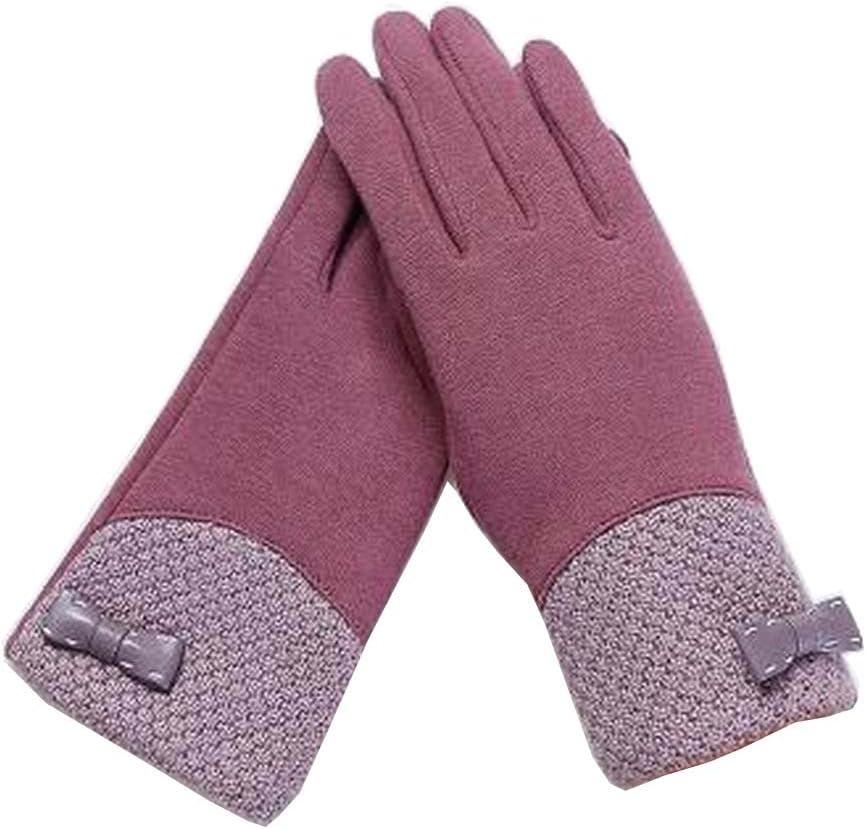 Alien Storehouse Woman Pretty Warm Winter Gloves Driving Gloves Bow Purple