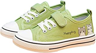 Hopscotch Baby Boys and Baby Girls Canvas Solid Sneaker in Green Color