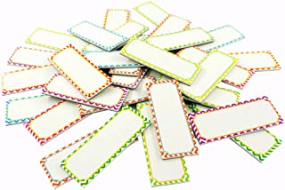 Big Magnetic Dry Erase Labels Name Plates White Board 32 Labels 8 Colors,5.5