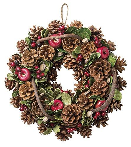 大橋新治商店 木の実のリース Natural Wreath リース 30cm 木の実ミックス 28-006