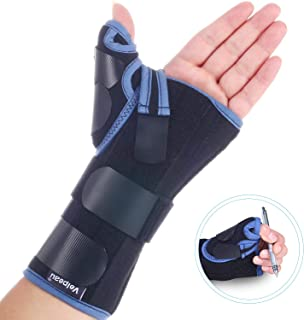 Velpeau Wrist Brace with Thumb Spica Splint for De Quervain's Tenosynovitis, Carpal Tunnel Pain, Stabilizer for Tendonitis, Arthritis, Sprains & Fracture Forearm Support Cast (Regular, Right Hand-L)