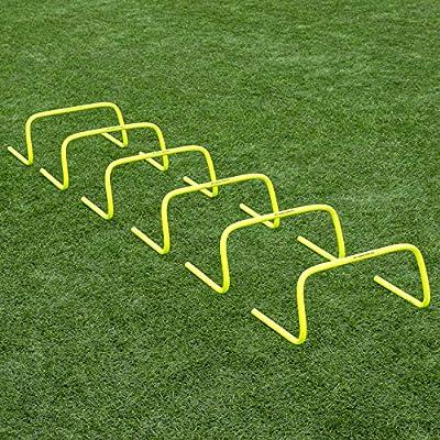 "Forza 6""/9""/12"" Speed Hurdles for Agility Training [Set of 6] | Hurdles Training Equipment | Multi-Sports Equipment | Speed & Agility Training Equipment [6 Inch] from Net World Sports"