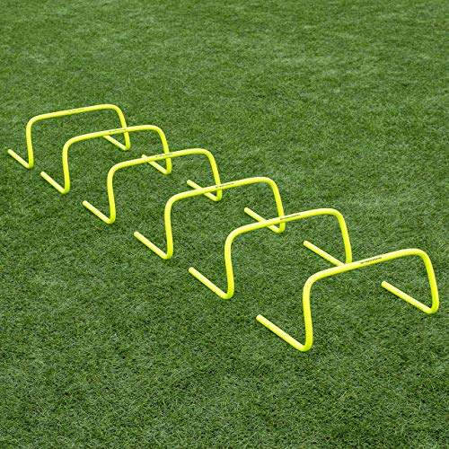 "Net World Sports Forza 6""/9""/12"" Speed Hurdles - New & Improved Design for Agility Training [Set of 6]"