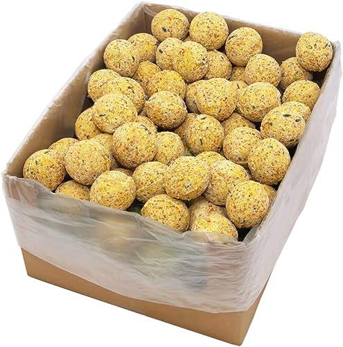Benkeg Cartón de 200 de Bolas de Grasa para Pájaro/Animal Salvaje, Bolas de Insectos (18 kg)