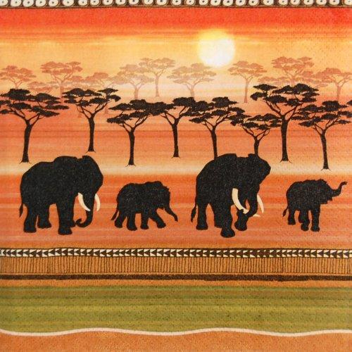 Home Fashion Serviette de table motif esprit africain 33 x 33 cm, multicolore, taille unique