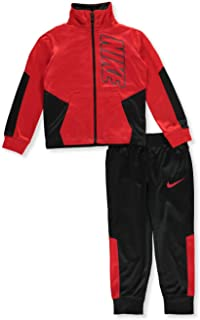all red nike sweatsuit
