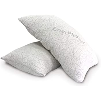 EnerPlex 2-Pack Luxury King Pillows, CertiPUR-US Certified Adjustable Shredded Memory Foam Luxury King Size Pillow, Machine Washable, Bamboo Cover, 36x20 Lifetime Promise, Will Not Go Flat
