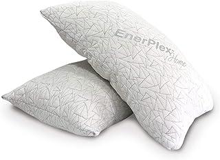 EnerPlex 2-Pack Luxury King Pillows, CertiPUR-US Certified Adjustable Shredded Memory Foam Luxury King Size Pillow, Machin...