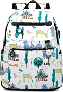 Cooralledtooere Unisex Polyester Bags Waterproof Hiking Backpack Backpack Laptop Rucksack Leisure Backpack,Laptop Backpack For Boys Girls Fits 14/15.6 Inch Laptop Unisex Lightweight Daypack With USB C