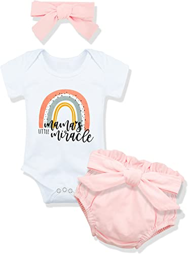 Newborn Baby Girl Clothes Infant Baby Girl Outfits Baby Girl Romper+Pants Summer Infant Girl Outfit 3PC Set