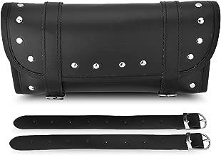 Bolsas para herramientas de motocicleta para manillar de piel sintética, parte delantera, horquilla trasera, bolsa de herramienta