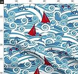 Maritim, Boote, Schiffe Stoffe - Individuell Bedruckt von